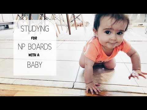 STUDYING FOR BOARDS WITH A BABY | Day in the Life of a NP Student |Weekly Vlog No.10