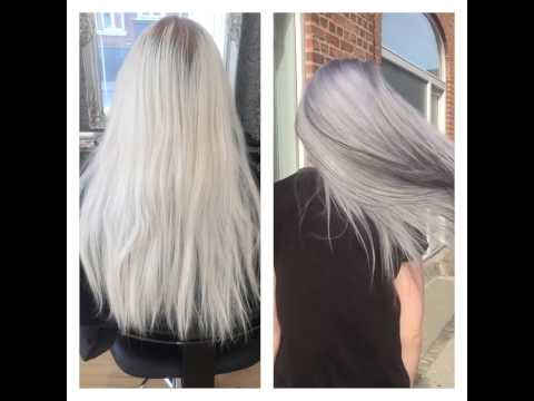 From Blond to Granny Grey with Olaplex and Goldwell Colorance.