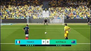 FRANCE vs AUSTRALIA | Penalty Shootout | PES 2018 Gameplay PC