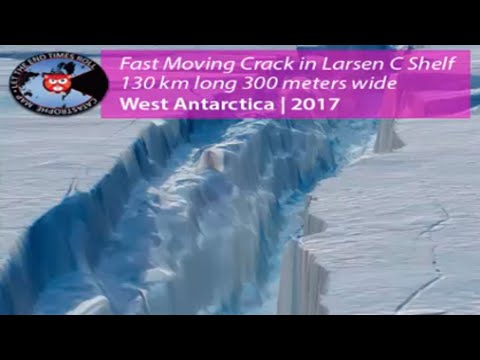 Larsen C Ice Shelf About To Split 11 Miles in Six Days