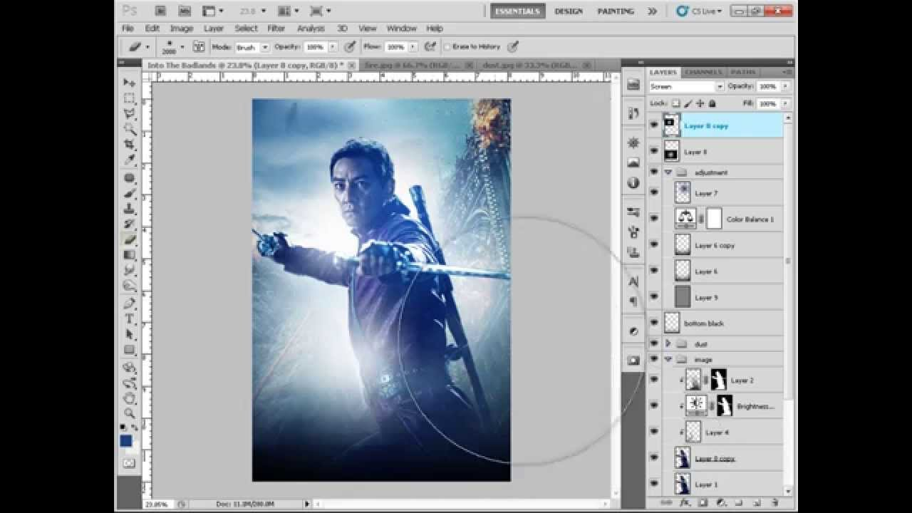 Photoshop Tutorial How to Make a Movie Poster Into the Badlands ...