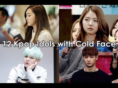 12 Kpop Idols with Cold Face