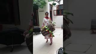 Dhol With Awesome Girl | Dholi Punjab | Punjab Jatti