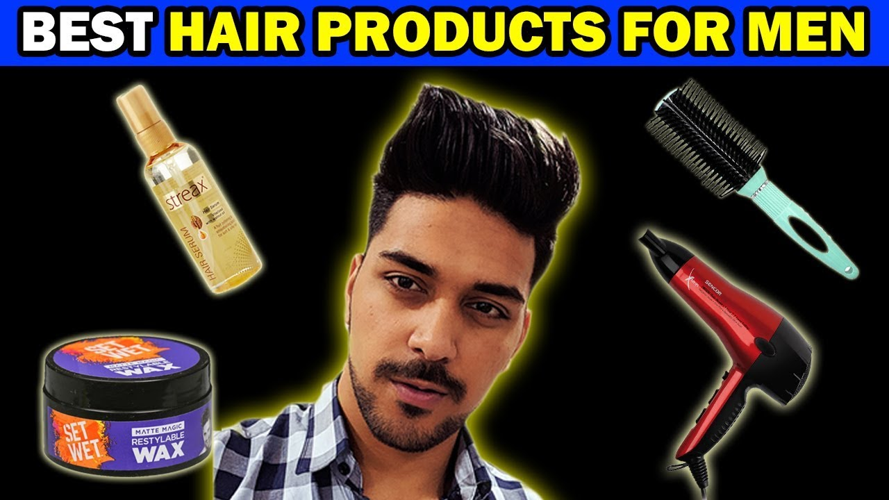 Best Hair Product For Men In India Best Hair Styling Products For Indian Men Hair Products Youtube