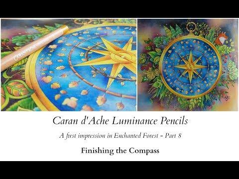 Caran d'Ache Luminance Pencils - Part 8 - Finishing the compass