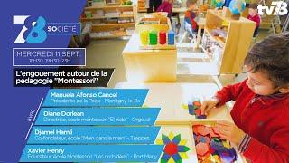 """7/8 Société. L'engouement autour de la pédagogie """"Montessori"""""""