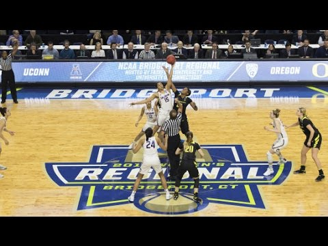 UConn Women's Basketball Highlights vs. Oregon 03/27/2017 (NCAA Tournament Elite Eight)