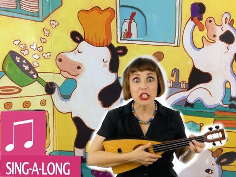 Animal Songs for Kids - Cows in the Kitchen Moo with Alina Celeste - Tom Farmer Nursery Rhymes