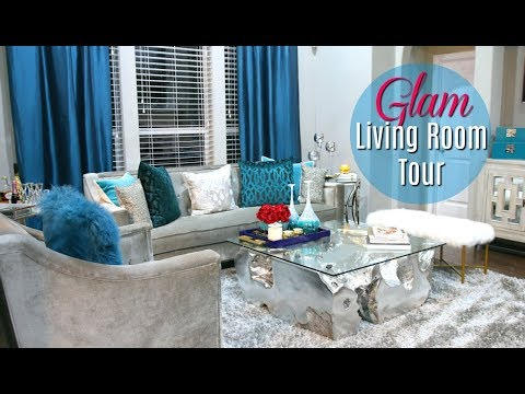 Glam Living Room Tour 2017 + Bonus  #MovingWithMissy Ep. 2