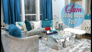 Glam Living Room Tour 2017 + Bonus- #MovingWithMissy ep. 2