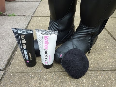 How to clean leather motorcycle boots (MB)
