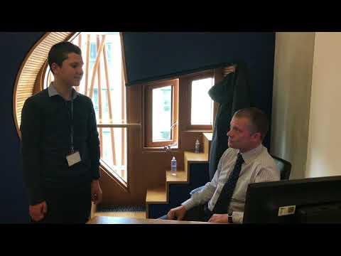 Calderglen High pupil David McAllister interviews Graham Simpson MSP