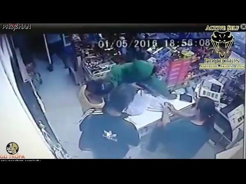 Shop Owner Ends Armed Robbery