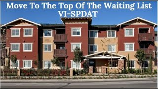 How to Get Low Income Housing Fast - Score High on VI SPDAT Waiting List