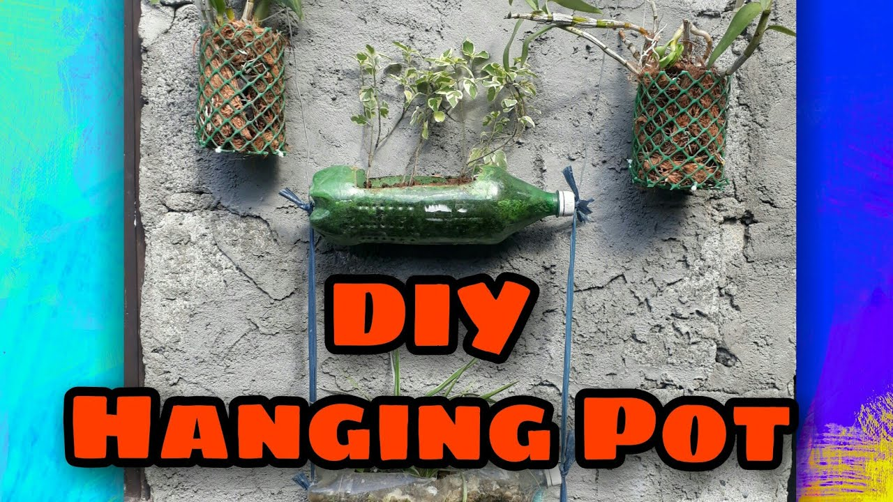 DIY hanging pot for orchids😊😊😊