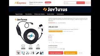 Unboxing chargeur type 2 16 ampères de Joytutu par Éléctron libre