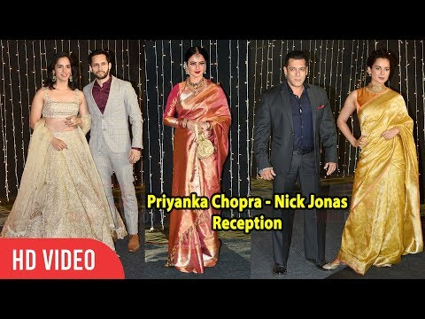 Rajinikanth wife, Kangana, Kajol, Salman, Saina, Rekha, Vidya, Jeetendra at Priyanka-Nick Reception