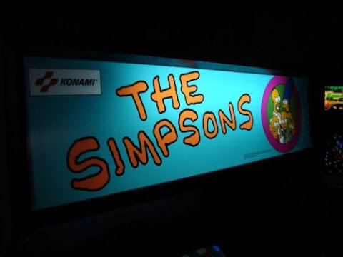 The Simpsons classic 1991 Konami Arcade Game - Overview, Gameplay Video!