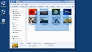 Windows 7 Burn Pictures or Videos to CD or DVD