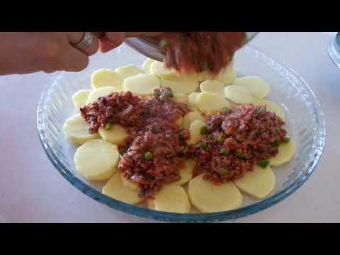 Fırında Kıymalı Patates Oturtması