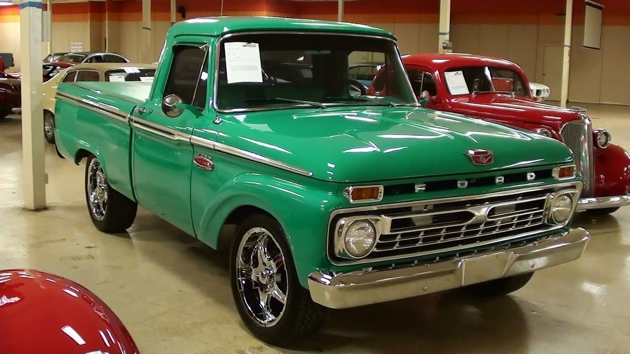 1966 ford f100 pickup 352 v8 [ 1280 x 720 Pixel ]