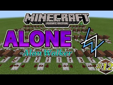 ALONE[Alan Walker] - Noteblock Song #12 - Minecraft PE(Pocket Edition)[Bahasa Indonesia]