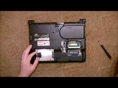 Как разобрать Ноутбук Samsung R20 (Samsung R20 Disassembly. How To Replace HDD, RAM)