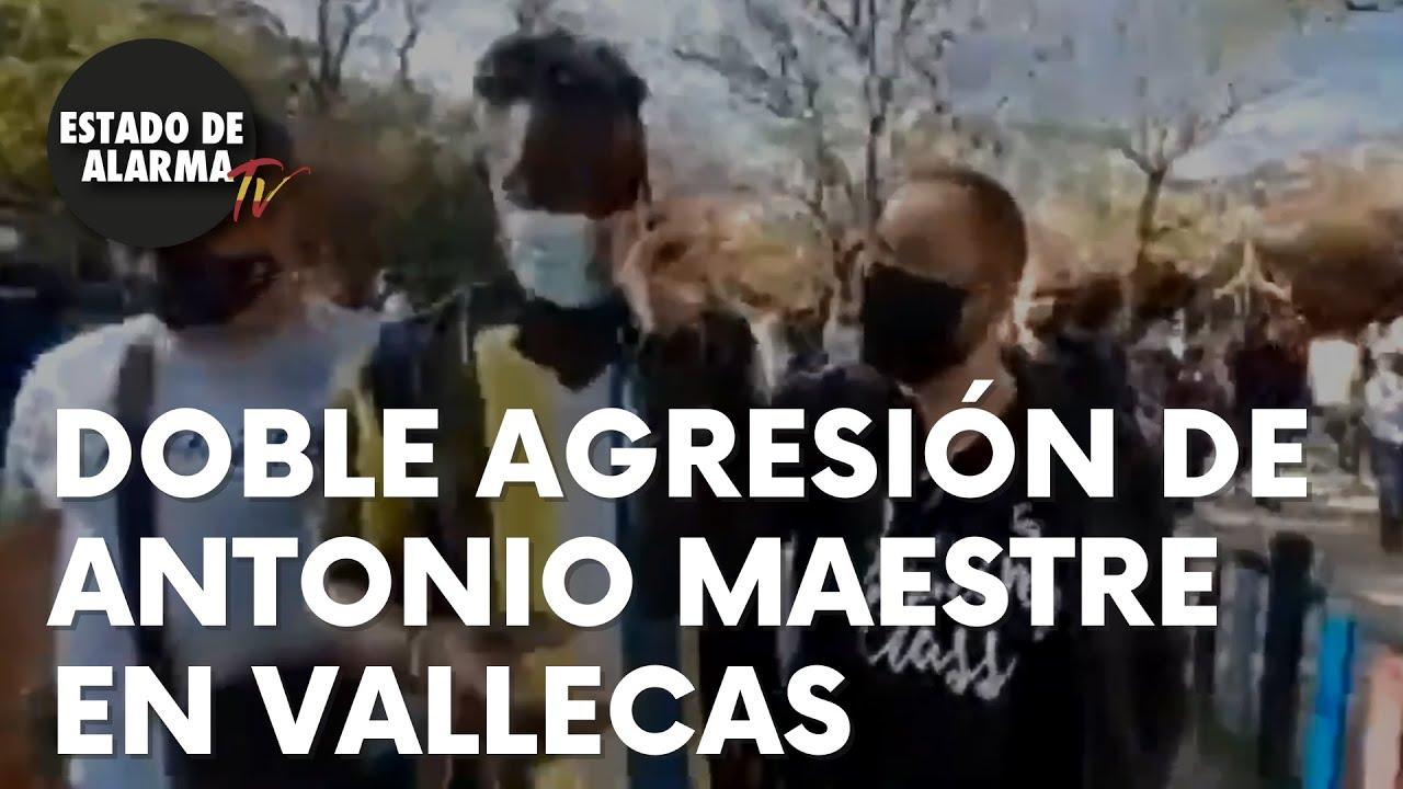 El polémico Antonio Maestre agrede a un asesor de Vox y a un cámara en  Vallecas - YouTube