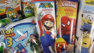 school candy cone toy story minions ben 10 super mario monster ink spider man surprise eggs bag