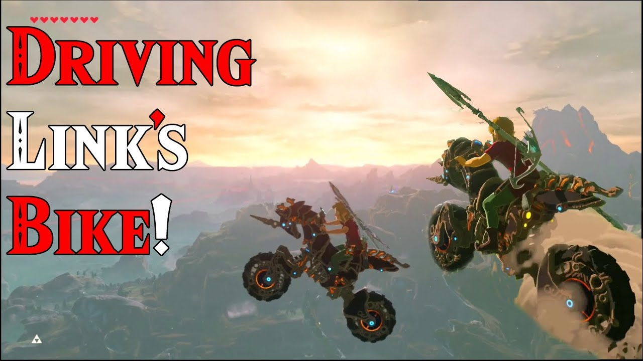 Zelda Breath Of The Wild Master Cycle: DRIVING Link's Motorcycle: Master Cycle Zero In Zelda