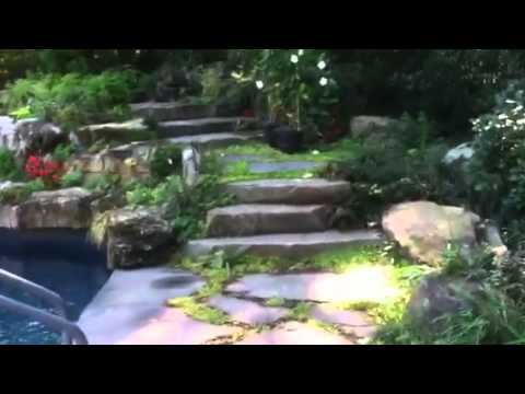 How To Build A Waterfall Into A Swimming Pool Youtube