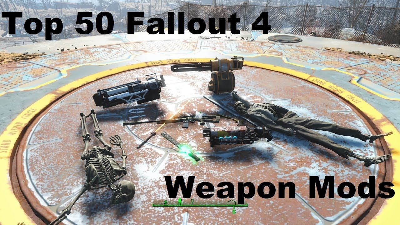 Top 50 Awesome Fallout 4 Weapon Mods! (PS4)