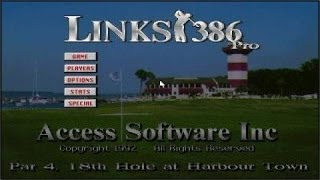 Links 386 Pro gameplay (PC Game, 1992)