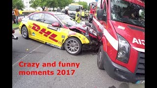 CRAZY AND FUNNY MOTORSPORT MOMENTS 2017!!