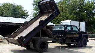 1989 Ford Crew Cab Flat Bed Dump Truck
