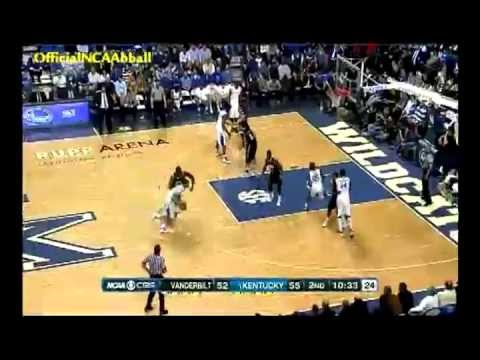 Festus Ezeli and Michael Kidd-Gilchrist monster back to back blocks 2/25/2012