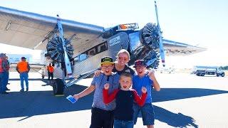 KIDS FIRST AIRPLANE RIDE!