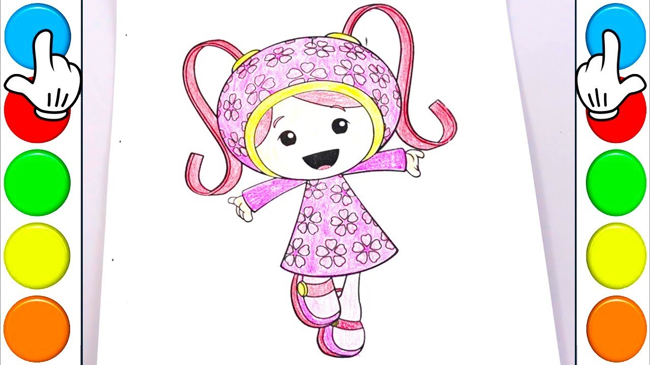 How to Draw and Colors Milli with Team Umizoomi - Coloring Page and ...