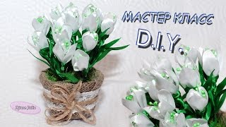 ПОДСНЕЖНИКИ из лент МК / Snowdrop Flowers of the tapes DIY/ Djuce Julia(МАСТЕР КЛАСС !!! ПОДСНЕЖНИКИ из лент своими руками. Snowdrop Flowers of the tapes DIY Всем привет, меня зовут Юлия ! Я привет..., 2016-02-19T18:10:03.000Z)