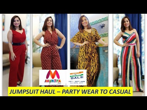 MYNTRA JUMPSUITS FOR PARTY WEAR / VACATIONS / LATEST JUMPSUITS || SARITA MALIK