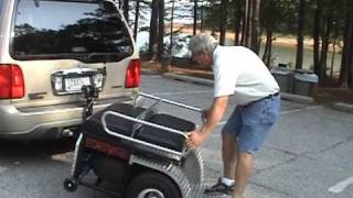 Cool Fold Up Golf Cart Eliminates Need For Trailer Or Rack