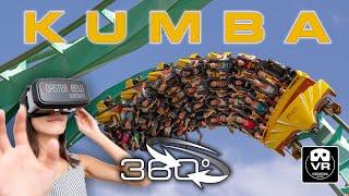 360° extreme Roller Coaster Kumba | VR POV | Busch Gardens Tampa Achterbahn Montaña Rusa #360video