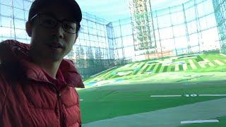 大会近いからゴルフ朝練