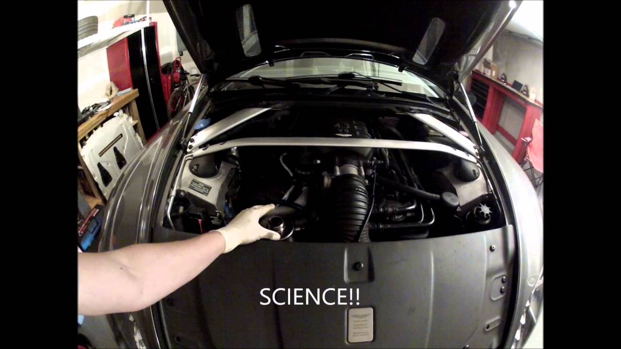 Changing The Engine Oil In An Aston Martin V8 Vantage Youtube
