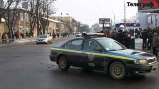Кортеж Януковича в Кременчуге