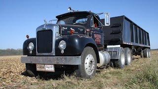 mack b 67 truck hauling corn