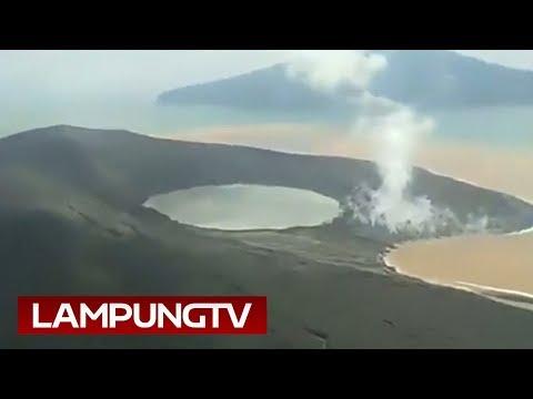Istirahat Meletus, Kawah Anak Krakatau jadi  Danau