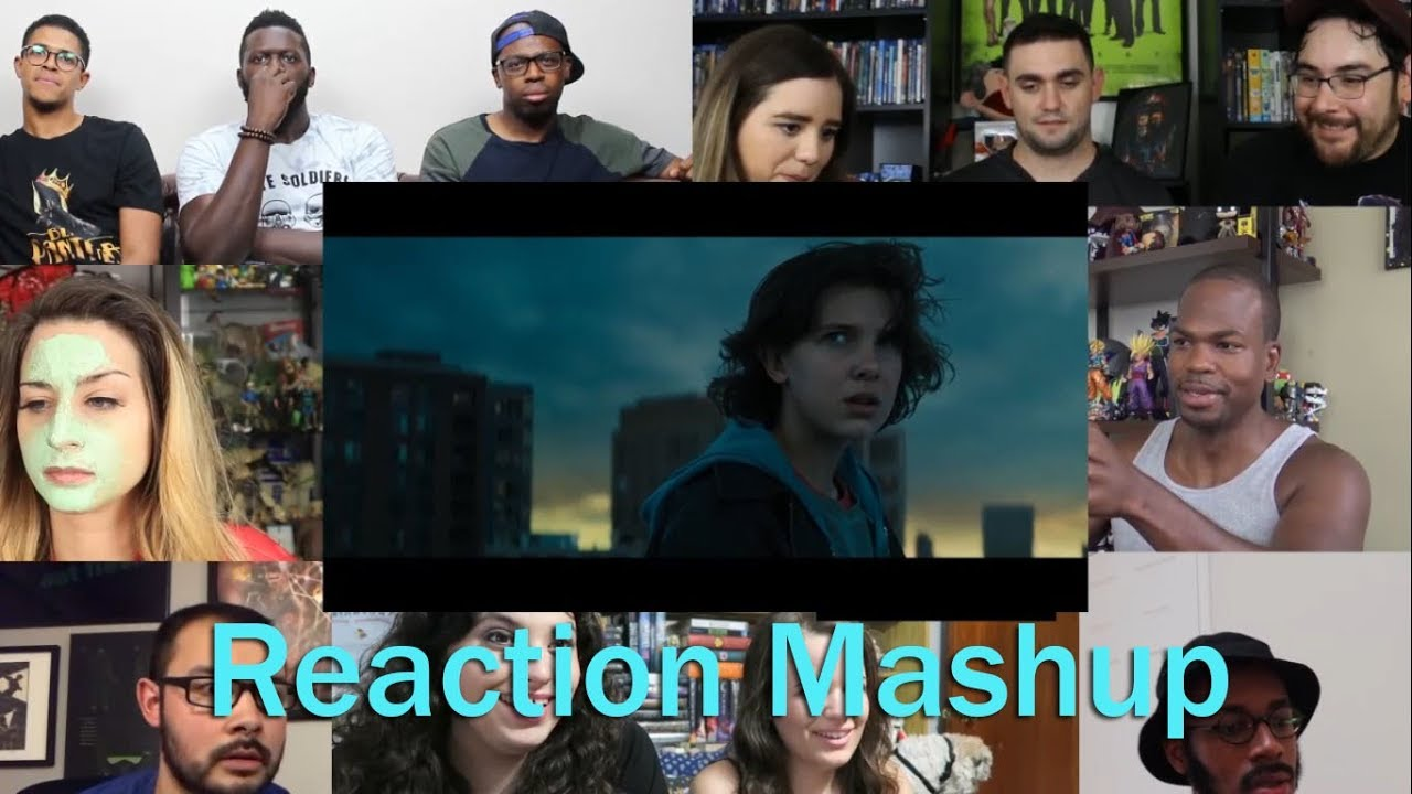 Godzilla King Of The Monsters Comic Con Official Trailer 1 Reaction Mashup