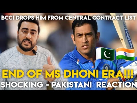 BCCI drops MS Dhoni from Central Contracts List | End of MS Dhoni era? | Pakistani Reaction