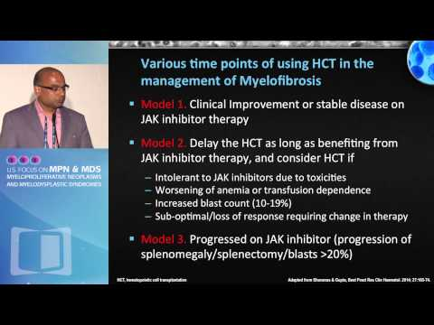 Stem Cell Transplant for Myelofibrosis in the JAK2 Inhibitor Era